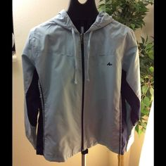 Athletech jacket sz XL Light blue hooded athletic jacket. Shell 100%polyester. Lining: 60% polyester, 40%cotton. Athletech Jackets & Coats