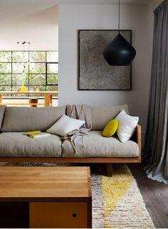 matelas pour banquette, joli sofa en style nordique, canapé en bois