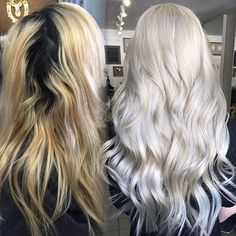 "Super excited about my first Color correction class ! Cannot wait ! Make sure you email me @ Jvilayvanh@live.com for more details @tanjaunrau Root Lightener used : Shawrzkoft Blonde me Toner : Fanola Orotherpay 24k 10.E + 10.1 + Silver & 10 Vol Extensions : Milk and blush 20"" Gwen Stefani toned to match"
