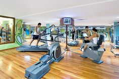 ESP: Gimnasio / EN: Gym. Thalasso Gloria Palace Amadores (Gran Canaria).