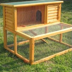 Homemade Outdoor Rabbit Cages -