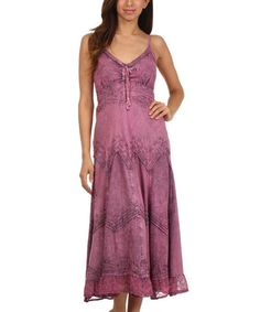 Love this Orchid Embroidered Empire-Waist Maxi Dress - Women & Plus by Sakkas on #zulily! #zulilyfinds