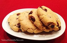 This Low Carb Chocolate Chip Cookies Recipe makes great soft cookies. Almond flour & 60% chocolate chips keep the cookies to 3.5 net carbs per cookie.