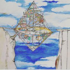 "104 Likes, 10 Comments - eva pils (@evpils) on Instagram: ""#citylife high above #urban #invention #houses #drawing #ink #paper #illustration #mywork…"""