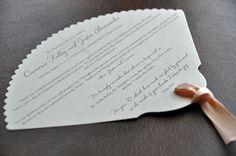 fan shaped wedding programs | Die-Cut Shapes