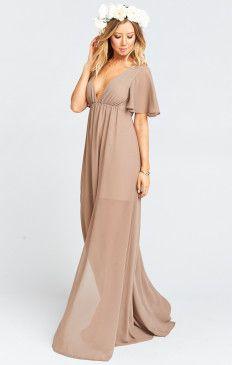 Faye Flutter Maxi Dress ~ Dune Chiffon
