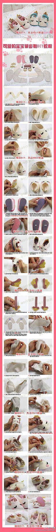 Precioso zapatos de bebé niño DIY tutorial