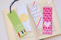 Bird's Party Blog: 34 Days of FREE Party Printables: Day 32 - Printable Bookmarks by Tickled Peach Studio