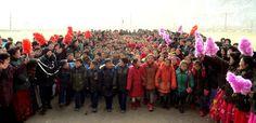 함북도 북부피해지역의 학교들에서 개학식 진행