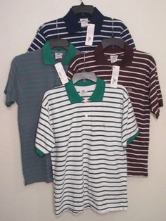 Menscave7 Lacoste Mens Casual Polo Shirt 4 5 6 Brown Purple Gray White Green Blue Stripes  #Lacoste #PoloRugby