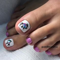 Pedicure Nail Art Design, If you've got hassle decisive that color can best suit your nails, commit to mirror this season or your mood! Animal Nail Designs, Toenail Art Designs, Nail Designs Pictures, Pedicure Designs, Manicure E Pedicure, Pedicure Ideas, Pedicures, Pretty Toe Nails, Cute Toe Nails