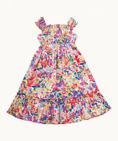 Pretty floral summer dress... Look at this Purple & Orange Autumn Gathered Dress - Girls on #zulily today!