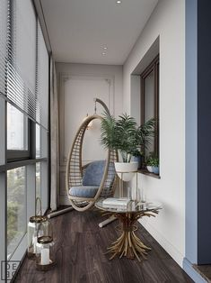 Classic living room and minimalist room decor are the trends of interior design now. Plants and modern lighting are also Small Balcony Design, Small Balcony Decor, Balcony Decoration, Balcony Ideas, Room Interior, Interior Design Living Room, Living Room Designs, Interior Livingroom, Living Rooms