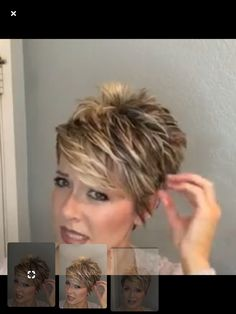 """Hair Beauty - Short Hairstyles For Women,Short Cuts-Sharalee from Sharalee's Box of Chocolates WomensShortHairRoundFace """"hairstylesandhaircuts""""bb Short Grey Hair, Short Hair With Layers, Short Hair Cuts For Women, Layered Hair, Short Cuts, Mom Hairstyles, Cute Hairstyles For Short Hair, Curly Hair Styles, Trendy Hair"""