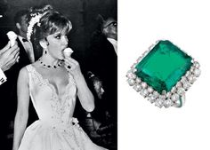 Emerald ring (estimate: £80,000-£120,000) 'I'm sometimes not very careful. I remember when I was on a book tour in 1974 promoting Italia Mia [a collection of Lollobrigida's photography] in America. I went to 20 cities and I always had the ring, and when I went to the bathroom I always took off the ring when I was washing my hands. And one day I forgot it in the bathroom. I was quite lucky: when I went back it was still there because it was hidden under a sheet of paper, so nobody had seen…