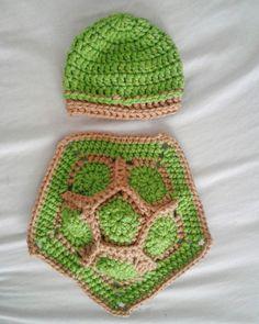 crochet baby turtle