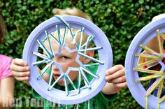 Paper Plate Crafts - Dream Catchers with Hearts - Red Ted Art's Blog