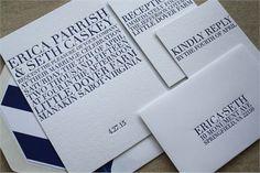 Erica + Seth Letterpress Wedding Invitation