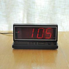 micronta mod digital alarm clock  large display by thecreekhouse, $17.00