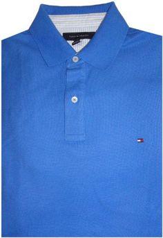 Amazon.com: Men's Tommy Hilfiger Short Sleeve Shirt Blue Size Large: Clothing