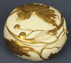 Beautifulest Art Nouveau Round Jewelery Box...oh its exquisite!