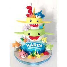 Baby shark cake #birthdaycake #birthdaycakebandung #kueulangtahun #kueulangtahunbandung #delightfullycake #figurinecake #bandungcake #dummycake
