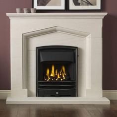 Gallery Kendal Limestone Suite and Natural Gas Fire