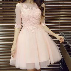 Appliques Pretty Homecoming Dress,Sexy Party Dress,Charming Homecoming Dress,Graduation Dress,Homecoming Dress - - Hübsches Ballkleid ♡ Source by Pretty Homecoming Dresses, Prom Dresses With Sleeves, Grad Dresses, Pretty Dresses, Sexy Dresses, Beautiful Dresses, Dress Outfits, Evening Dresses, Short Dresses
