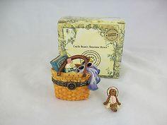 Longaberger Resin Boyds Bear Sunnies Boardwalk Treasure Box NIB Treasure Box