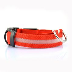 Dog collar with glowing LED light (Multiple Colors Available)