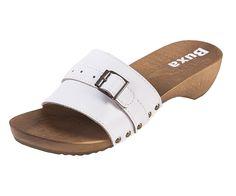 Dreváky šľapky TE15 - Biele - Dámske šľapky - Dreváky, drevaky-buxa.sk, drevená obuv