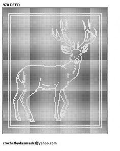 filet Crochet Chart Running Deer - Yahoo Image Search Results