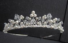 Pearl/Crystal Tiara. £67.99, Etsy.
