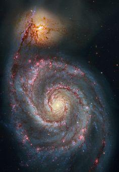 M51 via Hubble