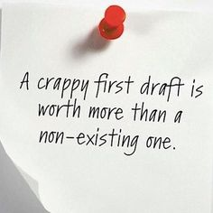 That first draft