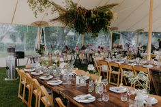 White Coupe Plates | Premium Glasses | White Napkins | Princess Cutlery | Vintage Timber Tables | Wooden Folding Chairs | Sperry Tent | Willow Farm | Blaise Bell Photography | South Coast Party Hire