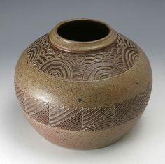 Pottery Folk Art // Ben Owen - 1985 Vase // North Carolina Handmade