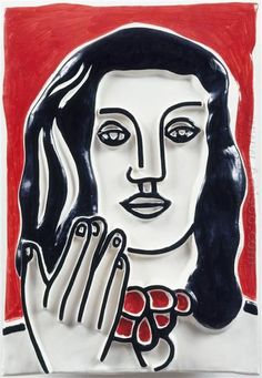 Oil painting reproduction: Fernand Leger Face By Hand On A Red Background Matisse, Cubism Art, Carpal Tunnel Syndrome, Portrait Pictures, Portraits, Famous Words, Expositions, Art Database, Oil Painting Reproductions