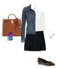 """OOTD 11/10/2016"" by ladykbaez on Polyvore featuring moda, 10 Crosby Derek Lam, Lands' End, Soft Style By Hush Puppies, Alex and Ani, Michael Kors, Samsung, Finn e Paige Denim"