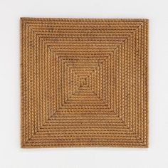 One of my favorite discoveries at WorldMarket.com: Square Rattan Chargers, Set of 4