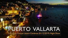 Evento nocturno (Night Show) Parque Lázaro Cárdenas (01/12/2019) Zona Ro... Puerto Vallarta, Destin Beach, Beautiful Beaches, Places To Visit, Romantic, Tours, River, History, City