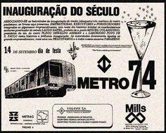Campanha da grande inauguração da primeira linha do metrô da cidade de São Paulo em 1974 Weird Vintage Ads, Vintage Advertisements, Old Pictures, Old Photos, Metro Sp, Teenage Bucket Lists, Nostalgia, Sao Paulo Brazil, Rio Carnival