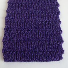 Lazy River Scarf.  4 rows K1P1 and 4 rows garter stitch.