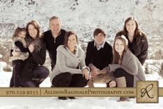 Winter Family Portraits in Durango, Colorado photography by Allison Ragsdale Photography