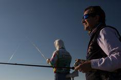 Fishing at el Cuchillo lake Mexico