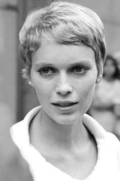 Mia Farrow's pixie set the standard. The secret for keeping it ladylike? It's not too cropped around the ears. Saint Yves, Trending Hairstyles, Cool Hairstyles, Hairstyle Ideas, Mia Farrow Pixie, Short Hair Cuts, Short Hair Styles, Pixie Cuts, Shaved Pixie Cut