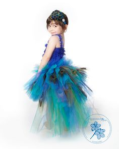 peacocks dresses | Tutu Dress..Birthday Tutu Dress.. Peacock Tutu Dress