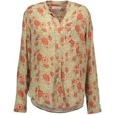 ISABEL MARANT ETOILE Silena floral print crepe de chine shirt ($350) ❤ liked on Polyvore featuring tops