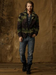 Camo Shawl-Collar Cardigan - Shawl & Turtleneck  Sweaters - RalphLauren.com