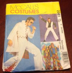 McCall's Sewing Pattern 2981 Elvis Saturday by Fraservalleyjewels Elvis Costume, Saturday Night Fever, Costume Patterns, Mccalls Sewing Patterns, Needful Things, Halloween Cosplay, Adult Costumes, Halloween Decorations, Boys